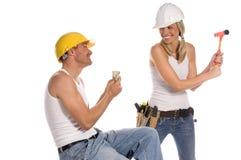 Equipe da construção Imagens de Stock