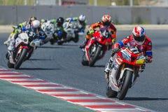Equipe da escola técnica 2 de Monlau Repsol 24 horas do motociclismo de Catalunya Fotos de Stock Royalty Free