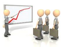 Equipe da explanação do gráfico Fotos de Stock