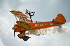 Equipe da exposição de Breitling Wing Walkers Foto de Stock Royalty Free