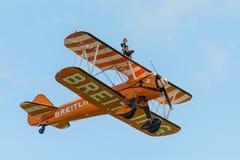 Equipe da exposição de Breitling Wing Walkers Fotografia de Stock Royalty Free