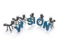 Equipe da visão Fotografia de Stock