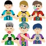 Equipe das crianças no dia dos esportes ilustração do vetor