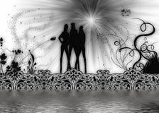 Equipe das meninas Ilustração Royalty Free