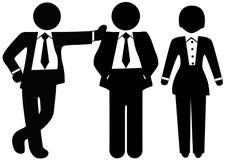 Equipe de 3 executivos nos ternos ilustração stock