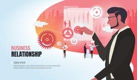 Equipe de ajuda ver2 do negócio do relacionamento imagem de stock