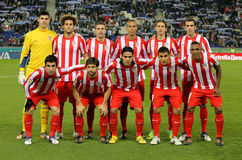 Equipe de Atletico de Madrid Imagens de Stock Royalty Free