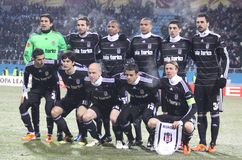 Equipe de Besiktas Istambul fotografia de stock
