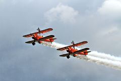 Equipe de Brietling Wingwalkers Fotografia de Stock Royalty Free