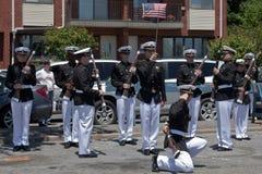 Equipe de broca da academia marinha Foto de Stock Royalty Free