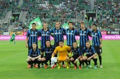 Equipe de Bruges do clube foto de stock