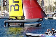 Equipe de Brunel da formação dos catamarãs de ProAM 32 Imagem de Stock