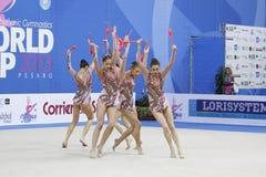 Equipe de Bulgária com clubes Imagem de Stock Royalty Free