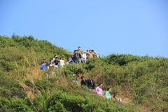 Equipe de caminhada exterior em uma ilha desinibido Fotografia de Stock Royalty Free