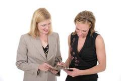 Equipe de duas mulheres 2 do negócio imagens de stock royalty free