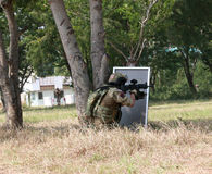 equipe de esporte da pistola pneumática Fotos de Stock