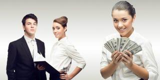 Equipe de executivos bem sucedidos novos Imagem de Stock Royalty Free
