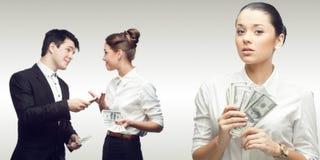 Equipe de executivos bem sucedidos novos Foto de Stock