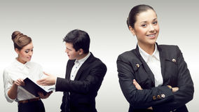 Equipe de executivos bem sucedidos novos Foto de Stock Royalty Free