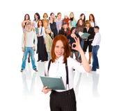 Equipe de funcionários aprovada! Imagens de Stock