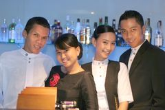 Equipe de funcionários de quatro barras Imagem de Stock