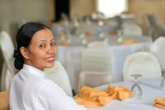 equipe de funcionários do banquete Imagem de Stock Royalty Free