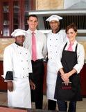 Equipe de funcionários do restaurante fotografia de stock