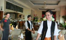 Equipe de funcionários do restaurante Fotos de Stock Royalty Free