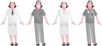 Equipe de funcionários médica - cirurgião do vetor Imagem de Stock Royalty Free