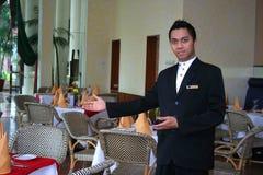 Equipe de funcionários ou empregado de mesa do restaurante Imagem de Stock Royalty Free