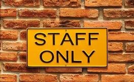Equipe de funcionários somente Imagens de Stock