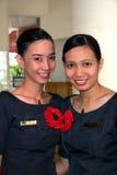 Equipe de funcionários da barra de hotel Imagens de Stock Royalty Free