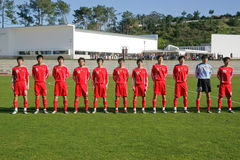 Equipe de futebol imagem de stock