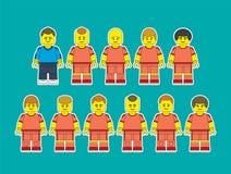 Equipe de futebol 1 Ilustração do Vetor