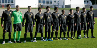 Equipe de futebol Sub-20 portuguesa fotos de stock royalty free