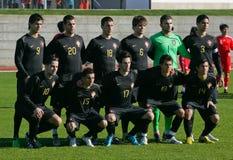 Equipe de futebol Sub-20 portuguesa imagens de stock