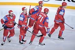 Equipe de hóquei em gelo de Team Russia Fotografia de Stock