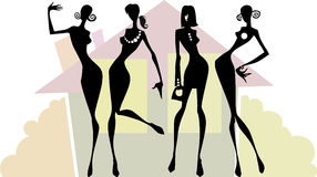 A equipe de mulheres Foto de Stock Royalty Free