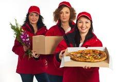 Equipe de mulheres da entrega Fotos de Stock Royalty Free
