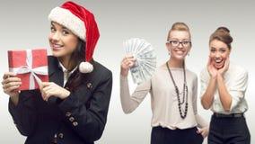 Equipe de mulheres de negócio bem sucedidas novas imagens de stock royalty free