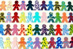 Equipe de povos felizes Imagem de Stock