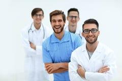 Equipe de sorriso de doutores novos Foto de Stock Royalty Free