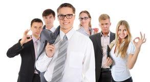 Equipe de sorriso feliz do negócio Fotos de Stock