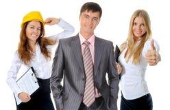 Equipe de sorriso feliz do negócio Fotos de Stock Royalty Free