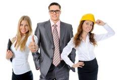 Equipe de sorriso feliz do negócio fotografia de stock