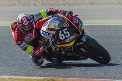 Equipe de TCXB & de Enervats 24 horas do motociclismo de Catalunya no circuito de Catalonia Fotografia de Stock Royalty Free