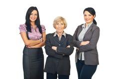 Equipe de três mulheres do negócio Foto de Stock Royalty Free