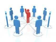 Equipe de uma comunicação Foto de Stock