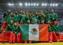 Equipe de Wushu do mexicano Fotografia de Stock