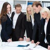 Equipe dedicada séria do negócio Imagem de Stock Royalty Free